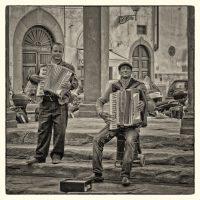 Accordion Players Florence Italy - John Petersen