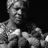 Woman With Yarn - Richard Krieger